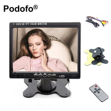 "7 ""HD 1024*600 Pantalla LCD TFT HDMI VGA Entrada de DVD VCR coches Vista Trasera del Monitor Monitor de Vigilancia Mini TV de la Cámara de Copia de seguridad"
