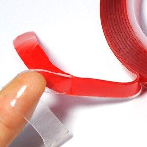 Image 3 - 3M Vermelho Transparente de Silicone de Alta Resistência Dupla Fita Adesiva Frente E Verso Etiqueta Para Carro Sem Vestígios Adesivo Adesivo Sala de Mercadorias