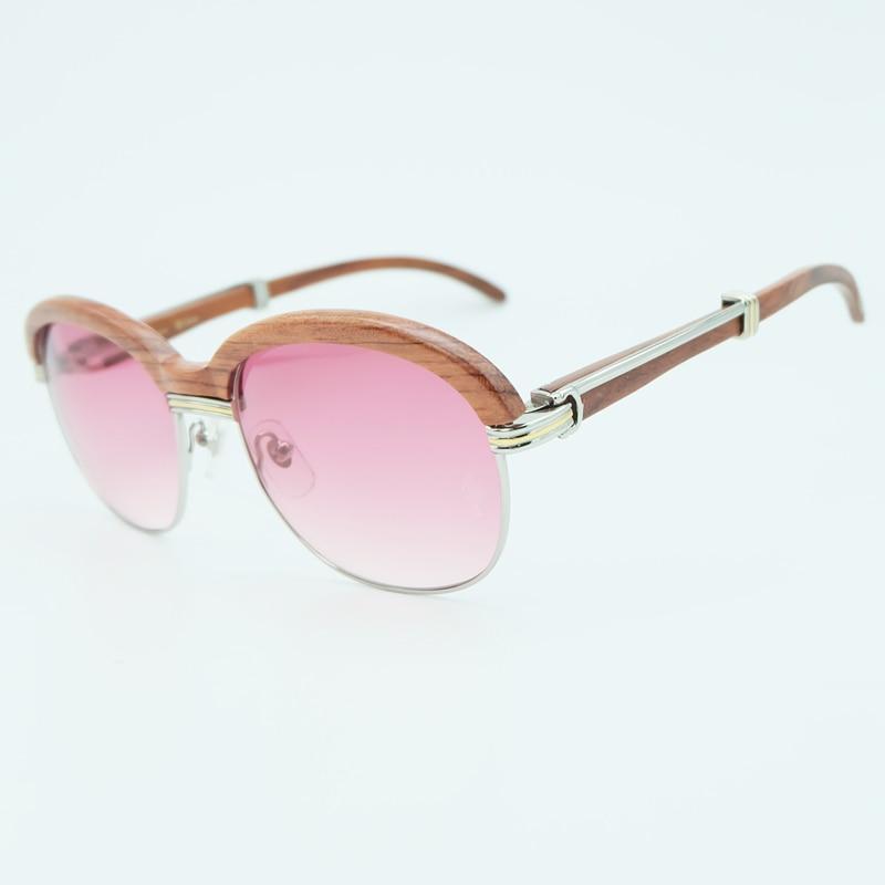 Bois lunettes de soleil cadres en bois lunettes de soleil hommes rose lunettes de soleil pour hommes mode nuances lunettes de soleil femmes vacances accessoires - 5