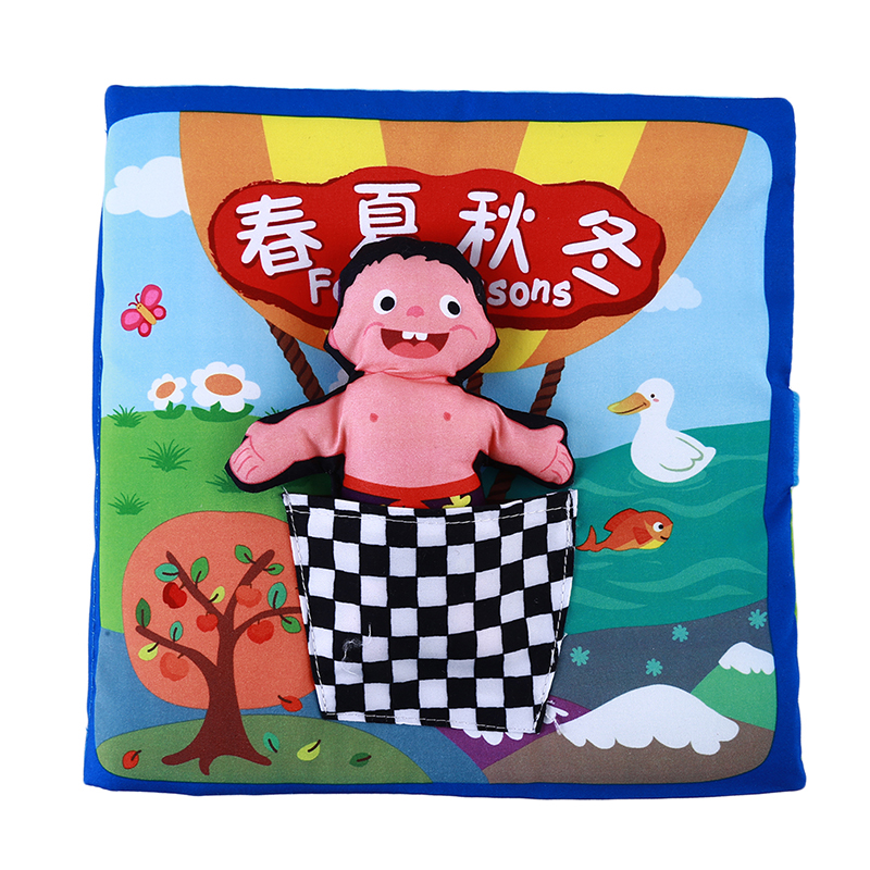 Baby Educational Toy Four Season Cloth Soft Book Good Interactive Game For Learning Spring Summer Autumn Winter Cloth Book