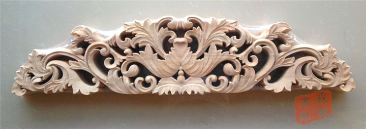 Wood Dongyang Wood Carving Fashion Applique Gate Flower Wood Shavings Carved  Furniture Flower Bed Wood 78