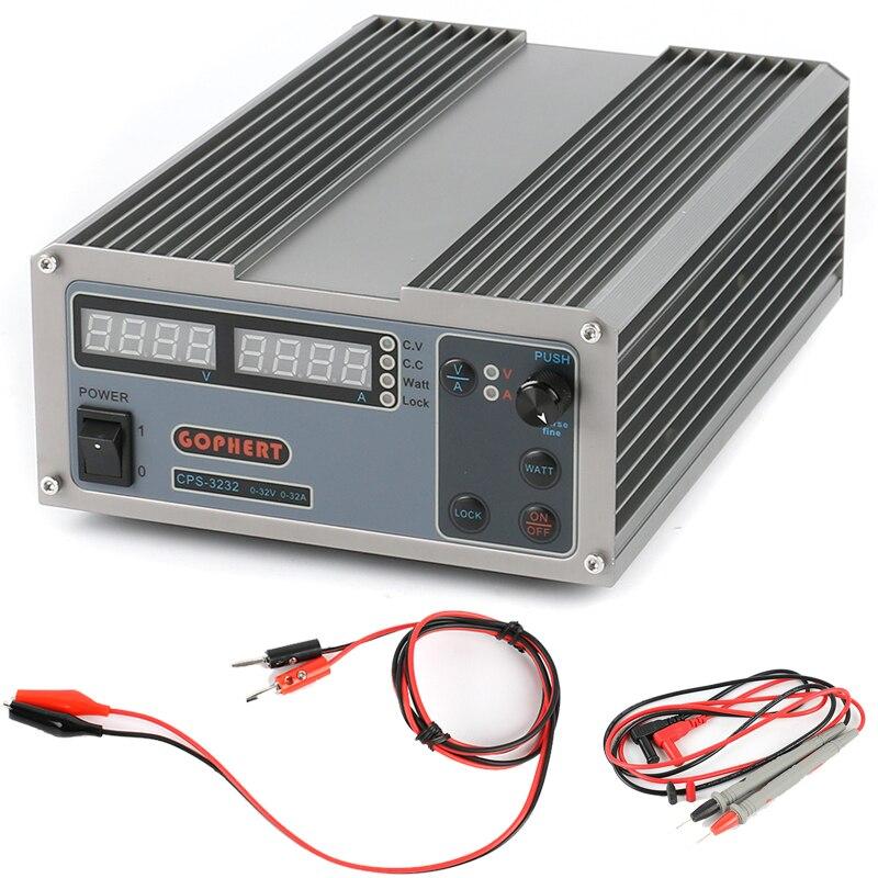 CPS-3232 источник питания постоянного тока Регулируемый лаборатории питания 0-32 В/0-32A 1024 Вт 0,01 В 0.01A