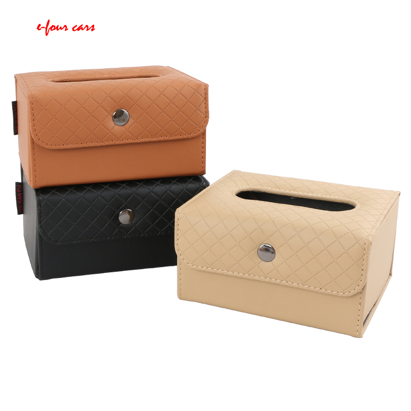 Car Tissue Box Sun Visor Hanging Tray Car Seat Back Tissue Bag Fit For Bmw Auto