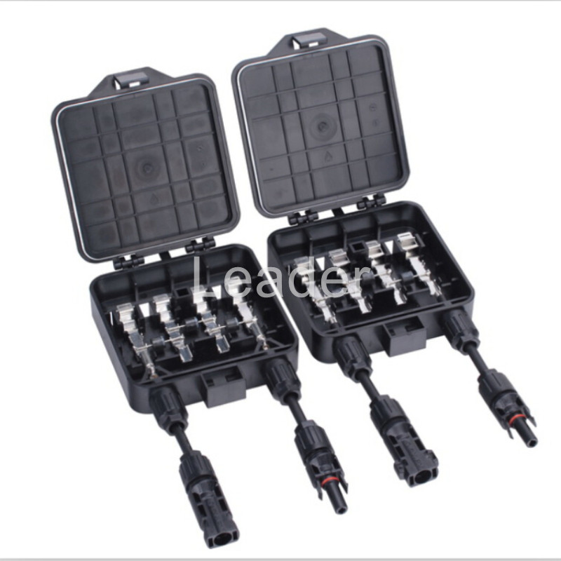 10 pcs/lot 4 way PV Combiner Box Photovoltaic Junction Box for Solar Energy System 3 Diodes Solar JB with Connector