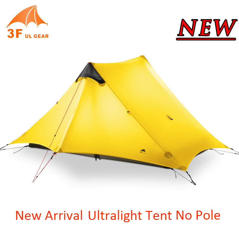 3F UL Gear Lightweight Backpacking Tent Brand Ultralight Outdoor Hiking Travel Camping Fishing 1-2 Person Sleeping Tent Shelter wnnideo single person tent personal bivy tent lightweight backpacking tent
