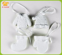 3D Christmas Clothes Silicone Soap Cartoon Cartoon Cute DIY Hat Mold Ornaments Socks Gloves Decorative Silicone