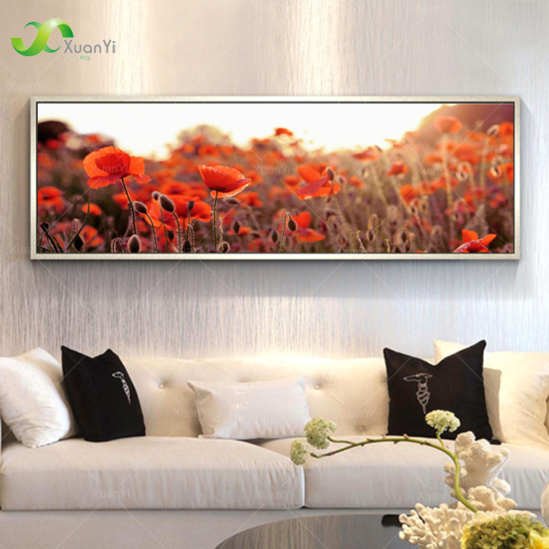 Poppy Flower Painting Landscape Oil Painting Canvas Paintings Large Wall Pictures For Living