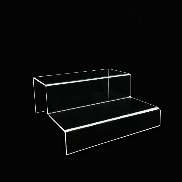 2 Step Clear Acrylic Glass Riser Step Display For Rocks Minerals Stones Opals Fossils Gems Jewelry Collection Stand kurt adler 4 1 2 inch noble gems glass toaster ornament