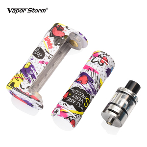 Image 2 - Vapor Storm Eco Elektronische Sigaret Kit Max 90W Tank 2.0 Ml Graffiti Bypass Doos Mod Vape 510 Ondersteuning Rda rdta Zonder Batterij