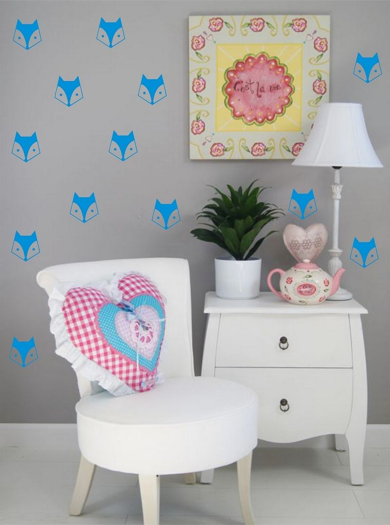40pcs mini fox diy wall sticker for kids room boys bedroom baby 40pcs mini fox diy wall sticker for kids room boys bedroom baby room decor wall sticker adesivo de parede mural wall tattoo a684 in wall stickers from home amipublicfo Images