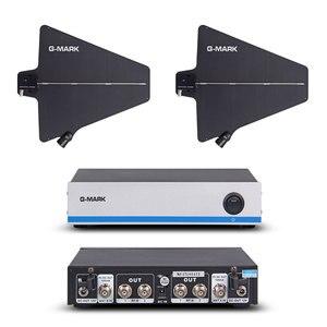 Image 1 - G MARK Draadloze Microfoon Antenne Signaal Versterker Distributeur 500 950Mhz Frequentie Voor Verlengen 400 Meter Door Uwp D11