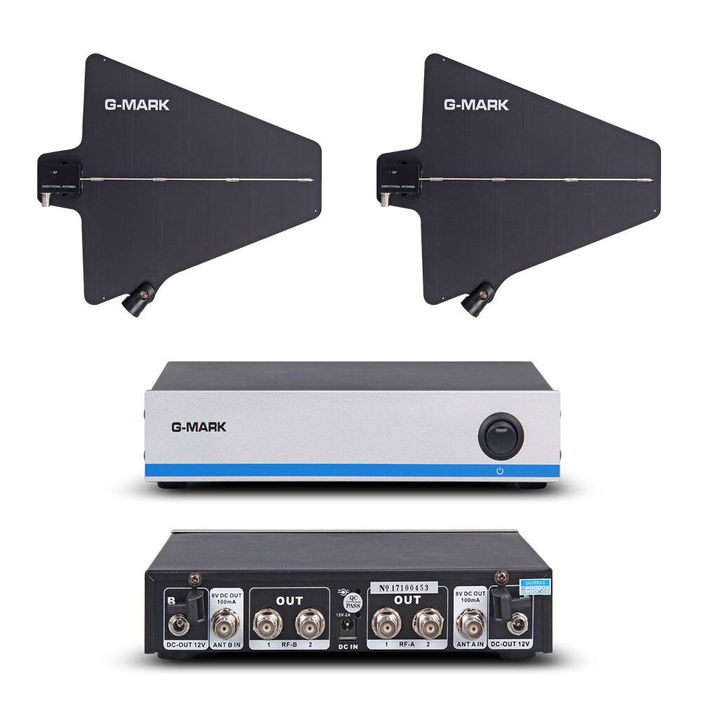 G-MARK Drahtlose Mikrofon Antenne signal verstärker Distributor 500-950MHz Frequenz Für verlängern 400 Meter Durch UWP D11