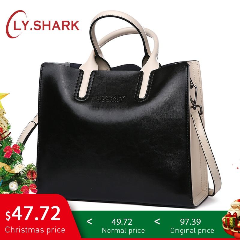 LY.SHARK Genuine Leather Women Handbag Tote Bag Shoulder Messenger Bags Luxury Handbags Women Bags Designer Purses And Handbags