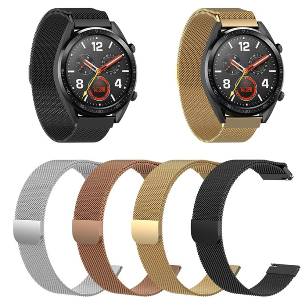 22mm Universal Milanese Stainless Steel Wrist Strap For Huawei Watch GT Active Band Strap For Huawei Honor Magic Watch Bracelet