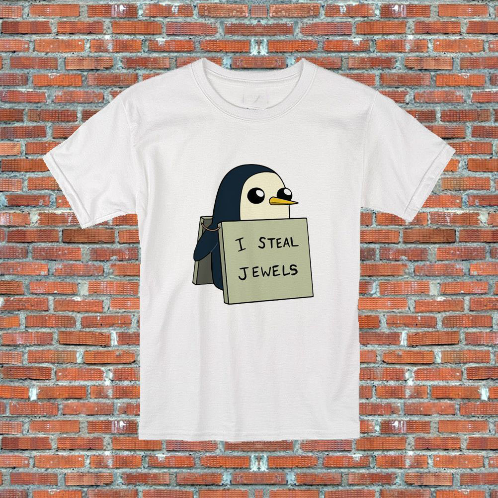 I Steal Jewels Gunter Adventure Time Penguin TV Show Inspired T-Shirt S-2XL 100% Cotton Brand New T Shirts