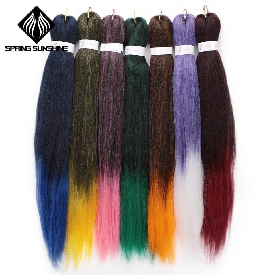 Hair Braids Spring Sunshine Pre-stretched Professional Ez Braiding Hair Perm Yaki Jumbo Braids Kanekalon Synthetic Hair Hot Water Easy Braid Agreeable To Taste Hair Extensions & Wigs