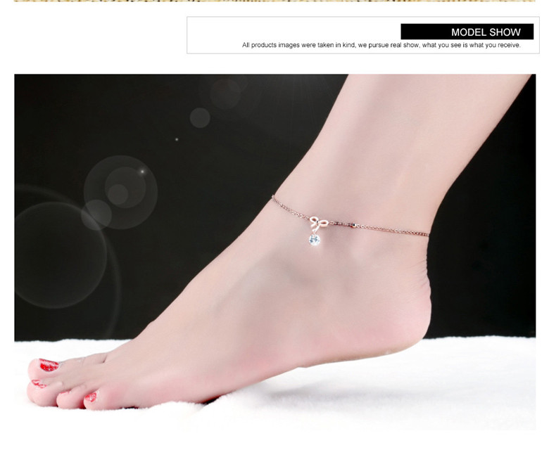 Fate Love Stylish Love Cube Link Anklets For Women Rose Gold Color Stainless Steel Ladies Female Foot Chain Jewelry Never Fade Anklets