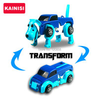 Free Shipping 4 Colors 14CM Cool Automatic Transform Dog Car Vehicle Clockwork Wind Up Toy For