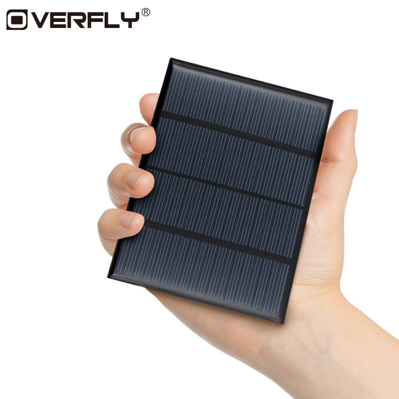 Overfly Solar Panel Solar System DIY Epoxy 18V 1.5W Solar Panel For Battery Cell Phone Chargers Portable Solar Power Panel