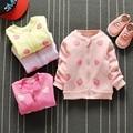 casaco roupas de bebe Autumn Baby Girls Strawberry Print Cotton Long Sleeve Zipper Baseball Jacket Coat Kids Princess Outerwear