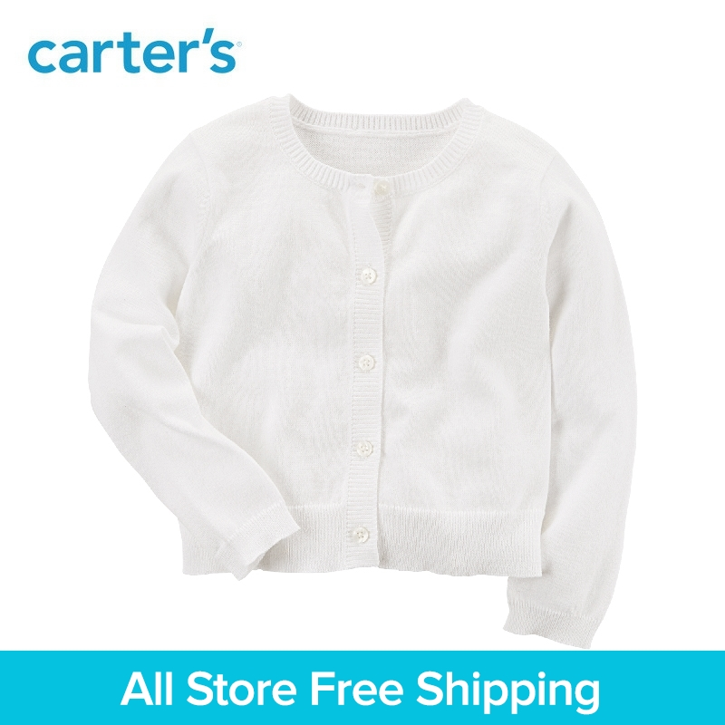 Carters 1-Piece baby children kids clothing Girl Spring Cute Knit Cardigan 253H711