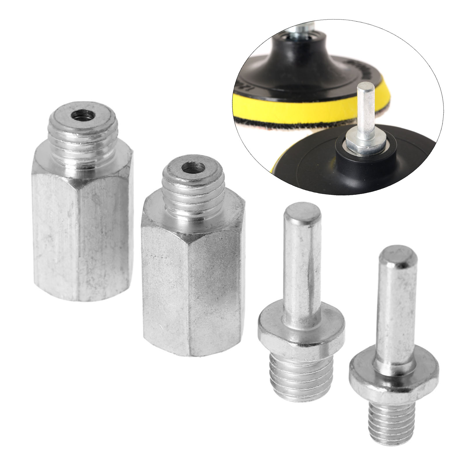 DRELD 1Pc Drill Aapter Thread For Polishing Pad & Hook Loop Backer Plate Backing Pad & Polisher M10/M14/M16 5/8