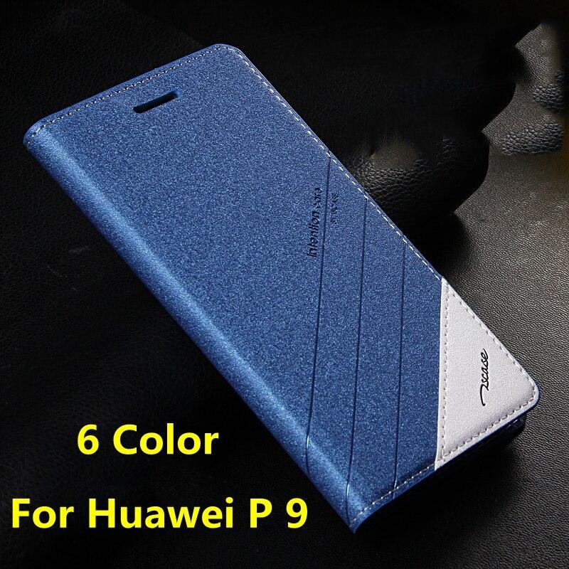 """imágenes para 6 Colores Para Huawei Ascend P9 5.2 """"Original Tscase Marca, de Alta Calidad de Cuero Del Soporte Del Tirón Imán de la Cubierta Para HUAWEI P9 P 9"""