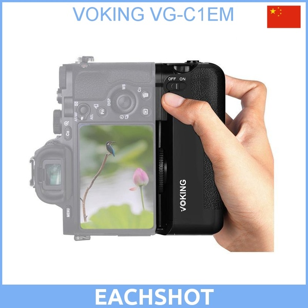 EACHSHOT ES-A7 Built-in 2.4g Wireless Control Battery Grip for Sony A7 A7r A7s as VG-C1EM meike wireless control battery grip for sony a7 a7r a7s as vg c1em 2 np fw50 battery battery charger