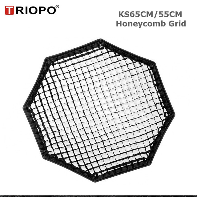 TRIOPO 55cm/65cm Honeycomb Grid for TRIOPO 55cm/65cm Foldable Softbox Octagon Umbrella Soft box photography studio accessories