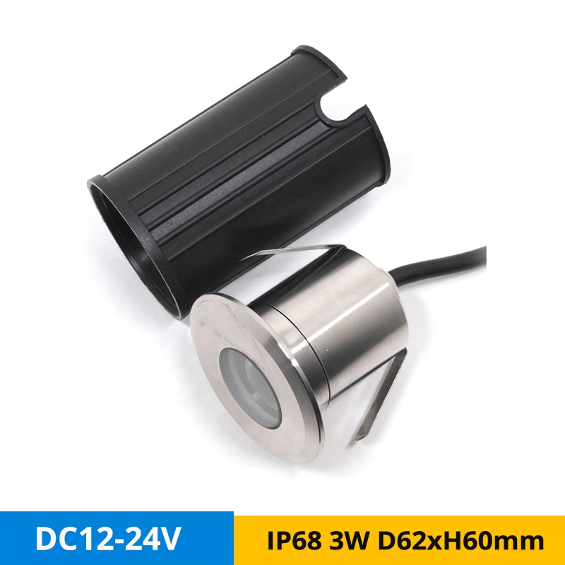 Kind-Hearted 12pcs/lot Dc12v 3w Underwater Led Spot Light Ip68 Stainless Steel Buried Underground Lamp Outdoor Lighting Hole-cut D44mm Lights & Lighting
