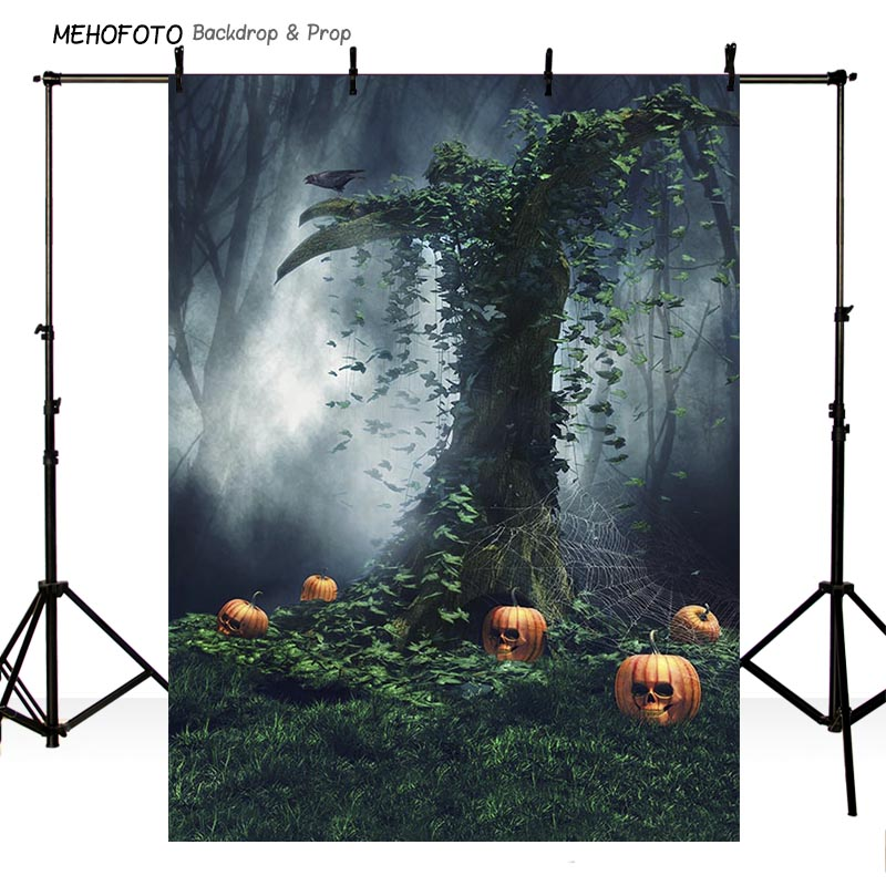 Vinyl Photography Backdrops Props Halloween day Wooden Floor Moon Pumpkin theme Photo Studio Background HA-271 black and white grids floor photography background hollow vinyl photo backdrops for photo studio funds props cm 4785
