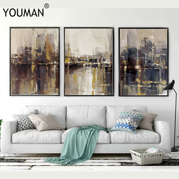 Nordic Modern Canvas Painting Classical Ink Art Poster Print Wall Picture Living Childrens Room Frameless