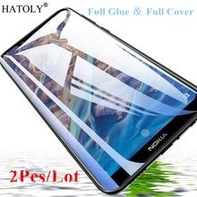 2 adet Nokia 8.1 için cam temperli cam Nokia 8.1 için X7 HD Film 9H tam tutkal tam kapak nokia 8.1 için ekran koruyucu