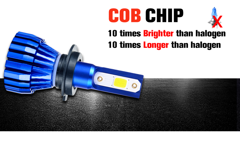 2PCS Mini H4 H7 LED Car Headlight Kit 50W 10000LMSet H1 H11 9005 HB3 9006 HB4 H8 6000K 4300K 8000K 3000K Bulbs Car Accessories (3)
