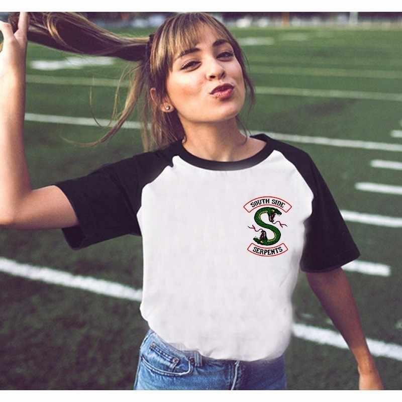 Riverdale T Shirt Women Summer Tops SouthSide Serpents Jughead Female TShirt Clothing Riverdale South Side Female T-shirt