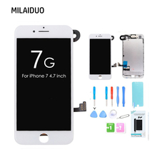 цена на LCD Display For iPhone 7 7g with 3D Touch Screen Digitizer Full Assembly Replacement +Front Camera+Sensor+Ear Speaker with Tools