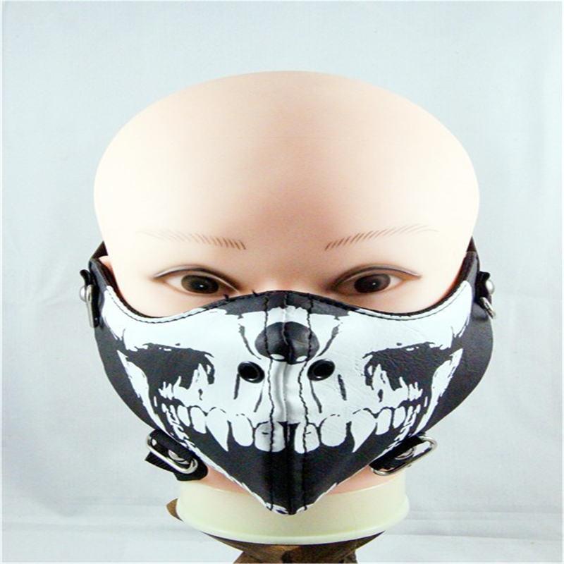 Damen-accessoires 10 Teile/paket Mode Punk Schädel Nieten Rock Reit Maske Persönlichkeit Flut Männer Koreanische Version Von Nicht-mainstream Masken Lange Lebensdauer