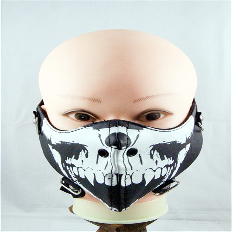 10pcs/Pack Fashion Punk Skull Rivets Rock Riding Mask Personality Tide Men Korean Version of Non-mainstream Masks 10pcs pack new influx of people performing masks ghoul stage masks men and women personality dustproof windproof masks
