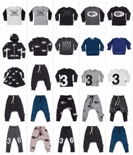 2017 autumn winter  boys clothing nununu pants baby boy clothes baby girl clothes kids clothes children clothing set vestidos