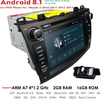 4G WIFI Android 8.1 Car DVD radio stereo Player For Mazda 3 2010 2013 1024*600 IPS Screen BT GPS DAB SD DVR Free rear camera