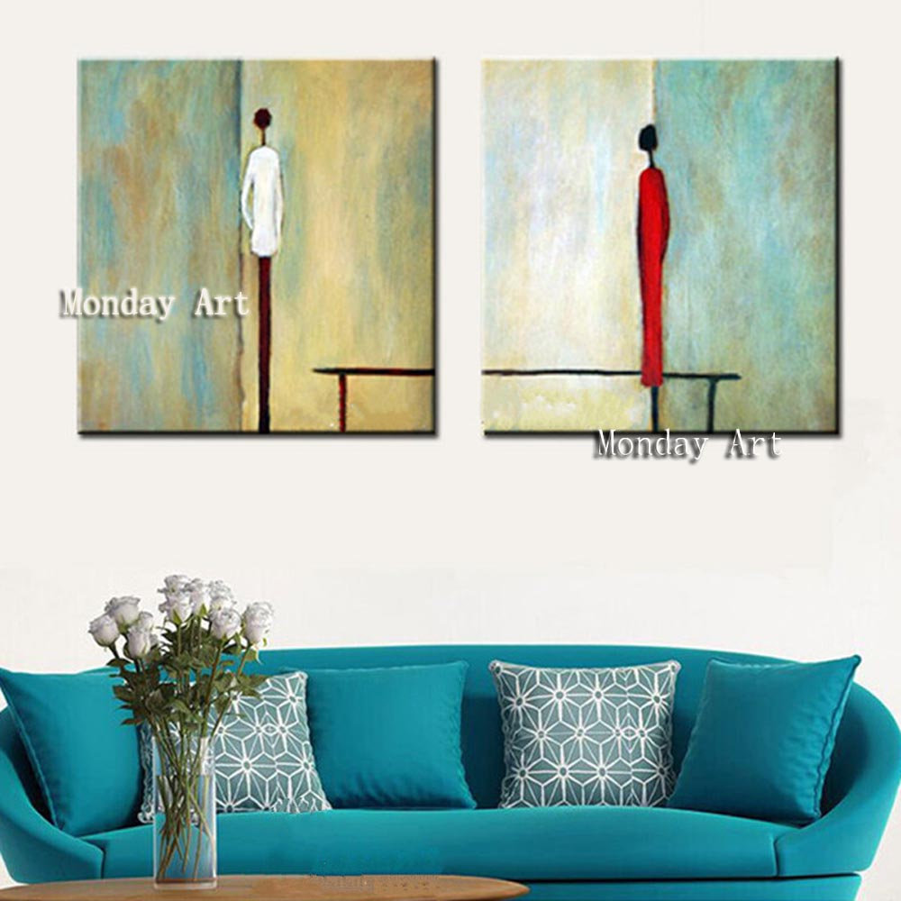 q Large-2-Panel-Acrylic-Painting-Hand-painted-Abstrac-Man-Woman-Figure-Oil-Paintings-on-Canvas-Modern