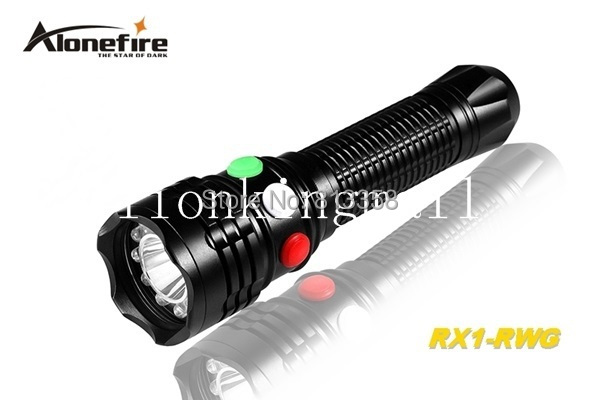 AloneFire RX1-RWG CREE XP-E Q5 LED Red White Green light Multi-function signal lamp flashlight torch