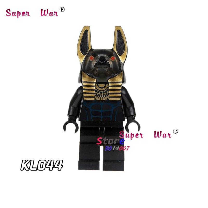 1PCS model building blocks action superheroes Anubis house hobby learning Dolls diy toys for children gift