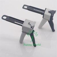 Boa Combinação 2 Pcs 4:1/10:1 e 1:1/2:1 Impression Dental Misturando Dispenser de Dispensação Gun coroa Provisória