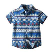Spring Summer Blouse Beach Baby Boy Shirt Casual Boys Shirt With Half Collar Short Sleeve Boy Shirts For Children Top стоимость