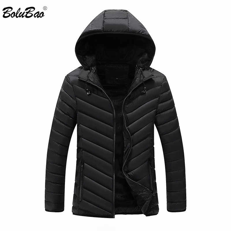 fb884d0e427 BOLUBAO 2018 Winter Jacket Mens Casual Parka Coat Male Cotton Padded Long  Thick Warm Pocket Slim