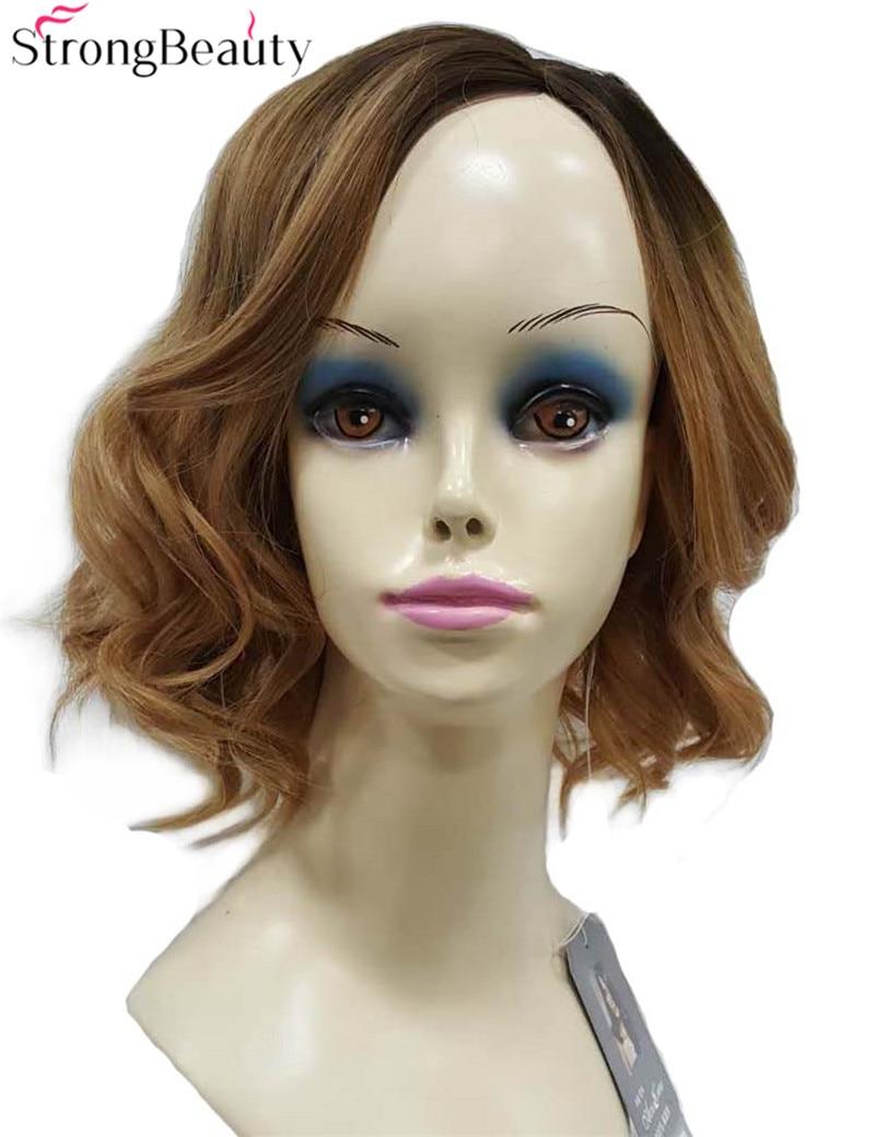 Strong Beauty Synthetic Medium Length Wavy Wigs Women Full Capless Wig