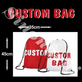 Индивидуальный рисунок сумки на шнурке мужской рюкзак цифровая печать сумка персонализированные сумки 35*45 см продукты >> Sinonarui Flag Store