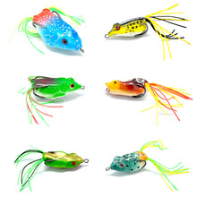 Topline Tackle Soft Frog Fishing Lures With Metal Sequins Top Water Artificial Bait 9-12G 6-9cm Double Hooks Lure