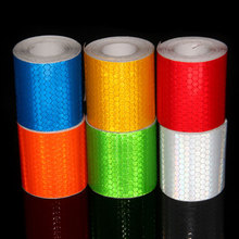 5cm*3m Safety Warning Reflective Tape Stickers Honeycomb Tape Automobiles Motorcycle Reflective Film Stickers On Cars 7 Colors